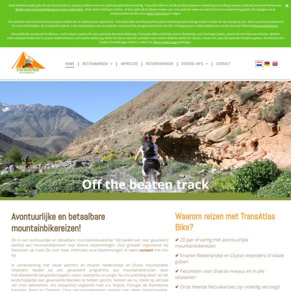 Zin in een avontuurlijke en betaalbare mountainbikevakantie? Wij bieden een zeer gevarieerd aanbod aan mountainbikereizen naar diverse bestemmingen. Voor groepen organiseren wij reizen op maat!