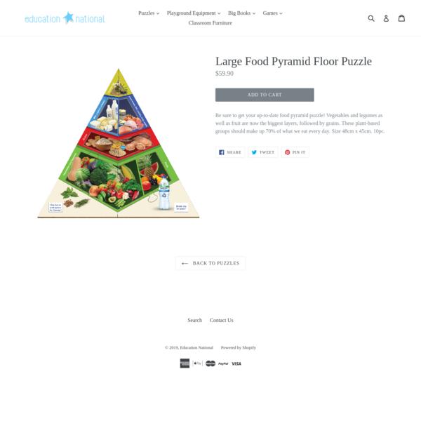 Large Food Pyramid Floor Puzzle