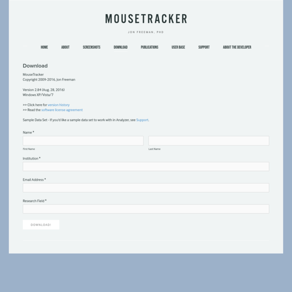 Download - MouseTracker