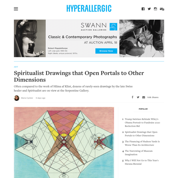 Spiritualist Drawings that Open Portals to Other Dimensions