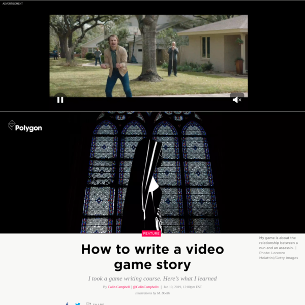 How to write a video game story