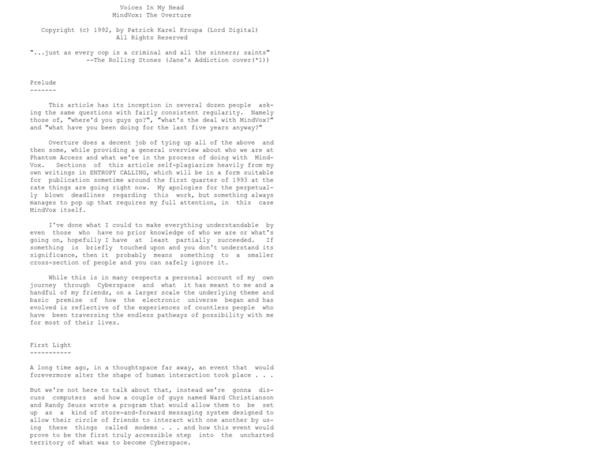 Manifesto written by Patrick Kroupa (Lord Digital) in the early 90s.
