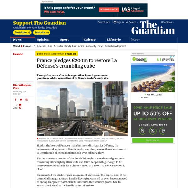 France pledges €200m to restore La Défense's crumbling cube