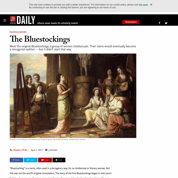 The Bluestockings | JSTOR Daily
