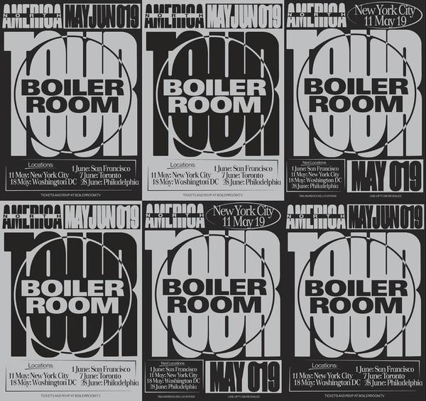 Campaign for Boiler Room @ North & Latin America Warhouse Tour posters ⚒ #boilerroom #americatour #warehouse #clubvisuals #p...