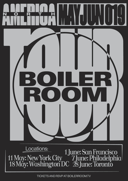 Boiler Room 2019 NA Tour Flyer