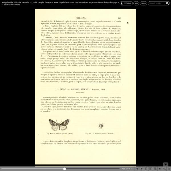 Encyclopédie d'histoire naturelle; ou, traité complet de cette science d'après les travaux des naturalistes les plus éminent...