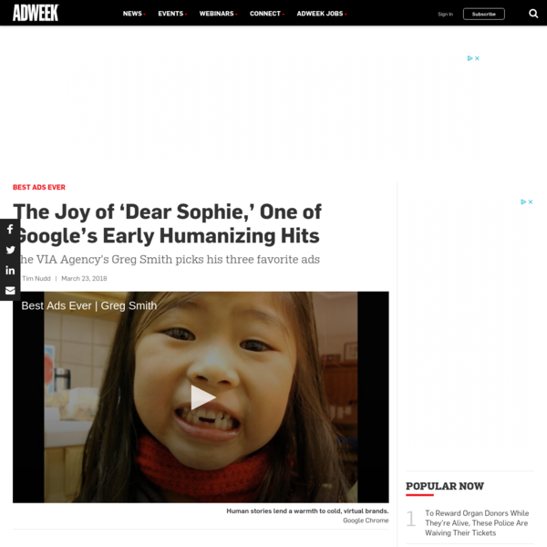 The Joy of 'Dear Sophie,' One of Google's Early Humanizing Hits
