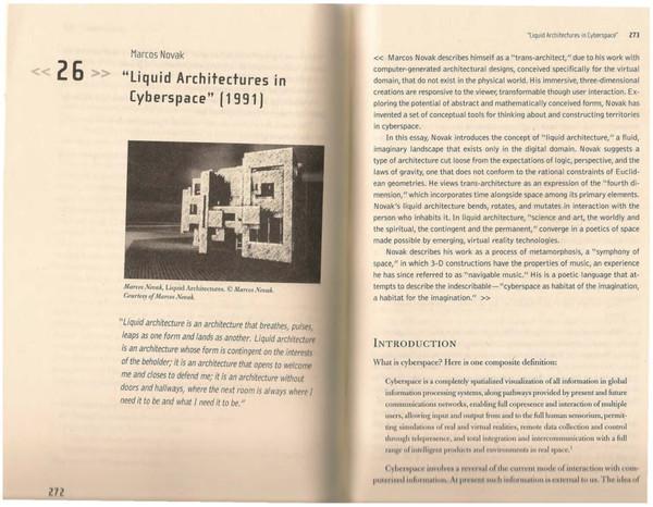 Novak: Liquid Architectures in Cyberspace (1991)