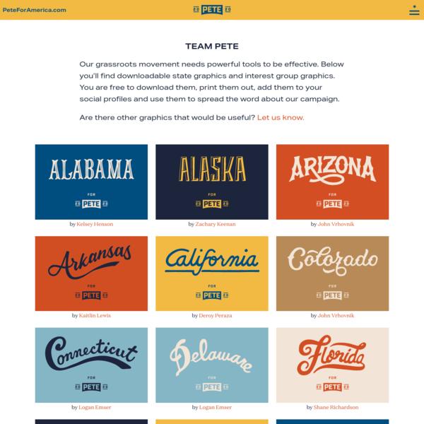 Pete For America Design Toolkit