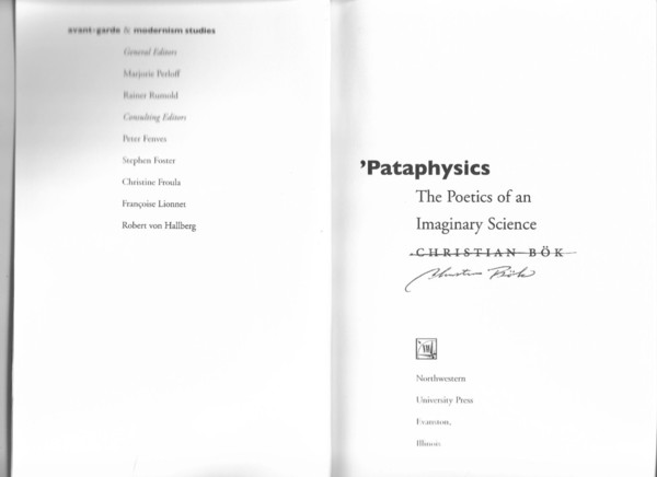 'Pataphysics: The Poetics of an Imaginary Science