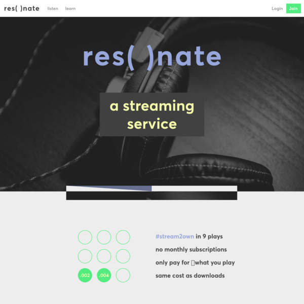 Resonate - the ethical music streaming co-op