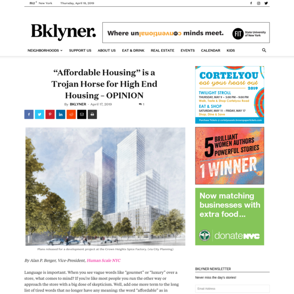 """Affordable Housing"" is a Trojan Horse for High End Housing - OPINION - BKLYNER"