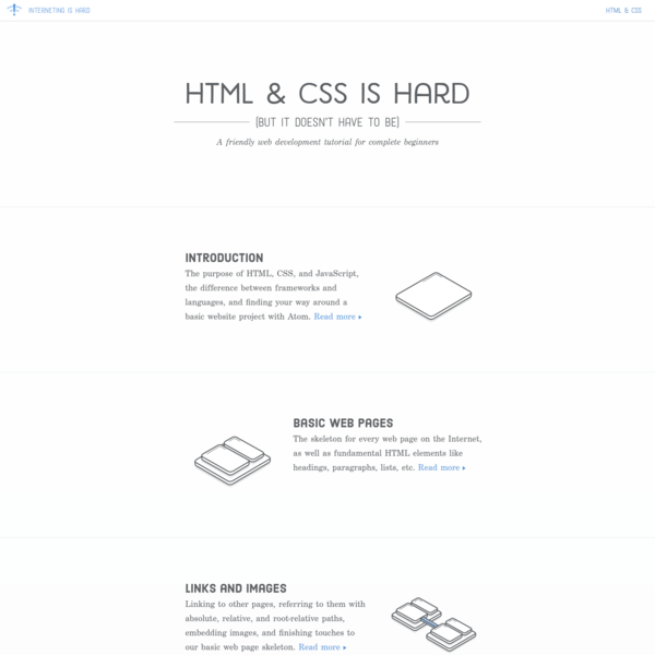 HTML & CSS Is Hard