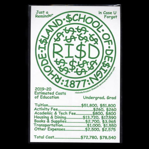 RISD Comic Sans Cash Poster