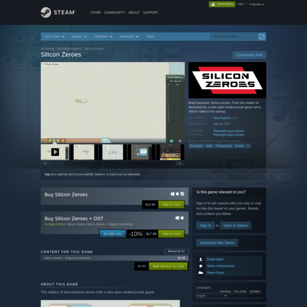 Silicon Zeroes on Steam