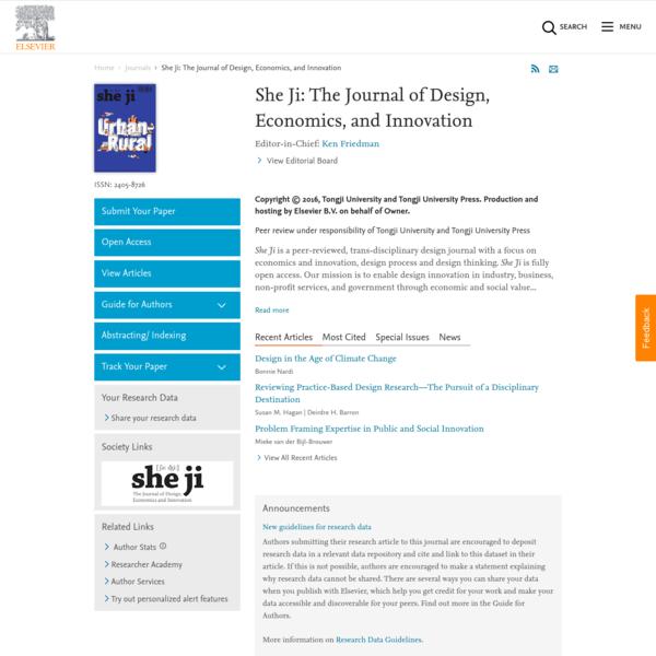 She Ji: The Journal of Design, Economics, and Innovation