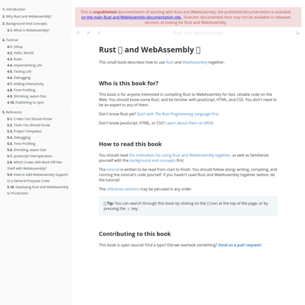 Introduction - Rust and WebAssembly