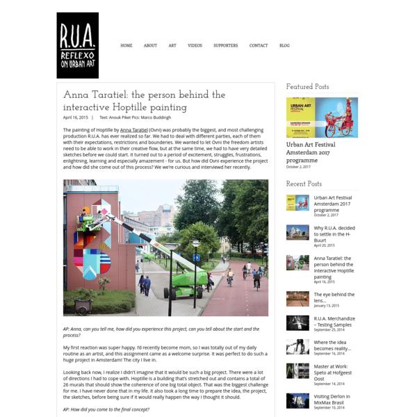 Anna Taratiel: the person behind the interactive Hoptille painting | R.U.A. - Reflexo on Urban Art