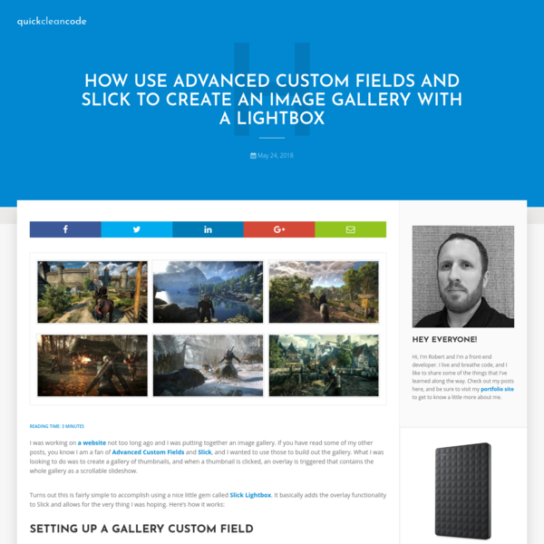 How to Create an Image Gallery with ACF and Slick