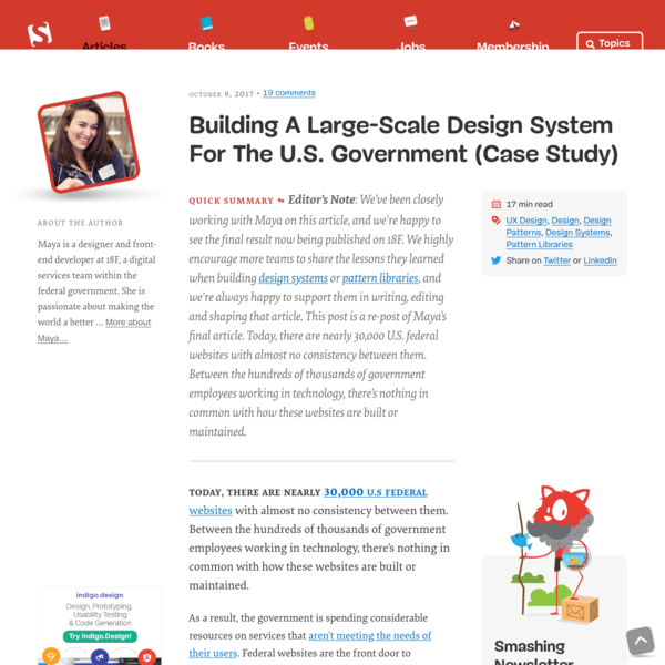 Building A Large-Scale Design System For The U.S. Government (Case Study) - Smashing Magazine