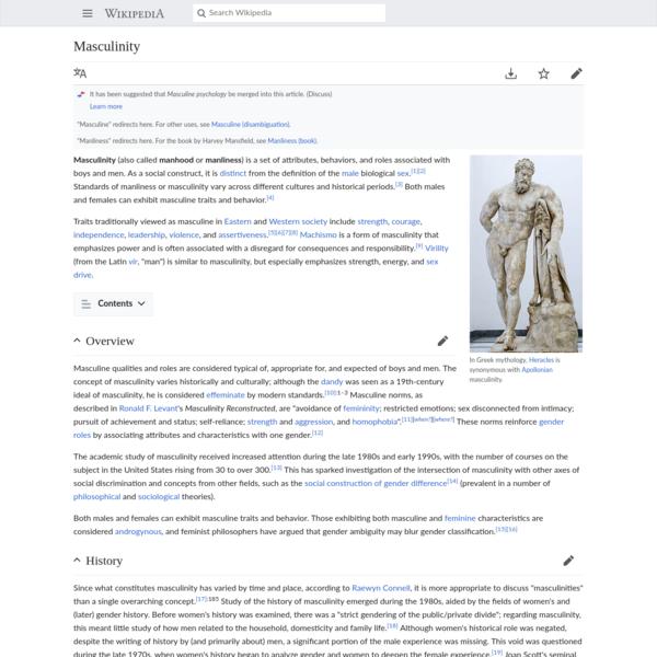 Masculinity - Wikipedia