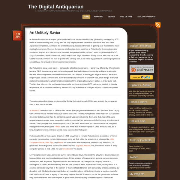 The Digital Antiquarian