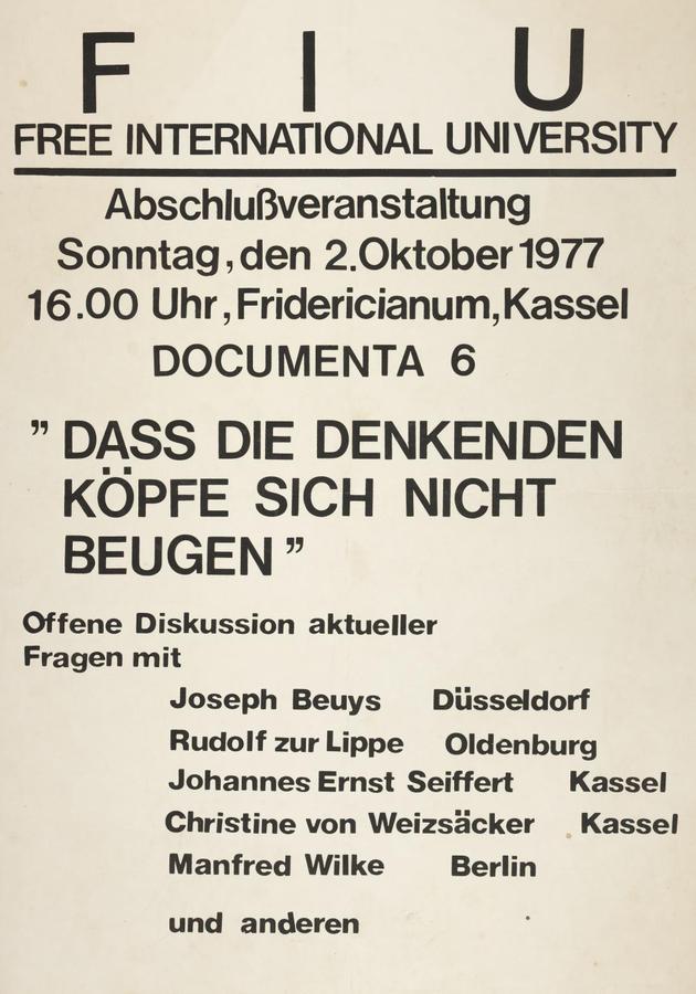 Free International University — Joseph Beuys