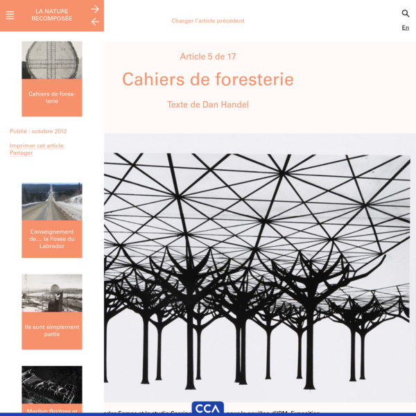 Cahiers de foresterie