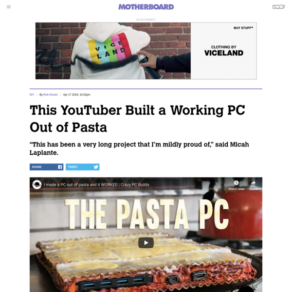 This YouTuber Built a Working PC Out of Pasta