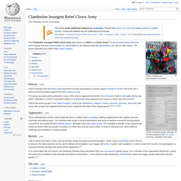 Clandestine Insurgent Rebel Clown Army - Wikipedia
