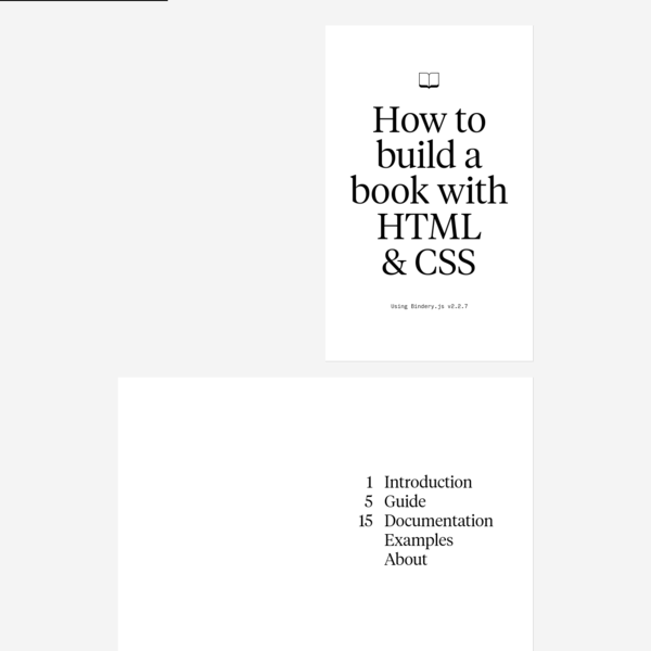 Bindery.js · Book