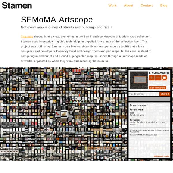 Stamen DesignSFMoMA Artscope > Stamen Design
