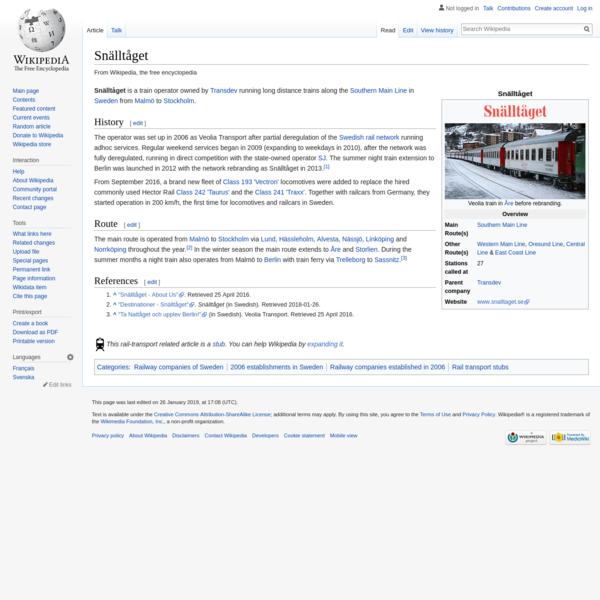 Snälltåget - Wikipedia