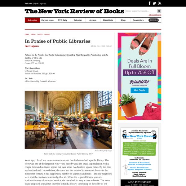 In Praise of Public Libraries