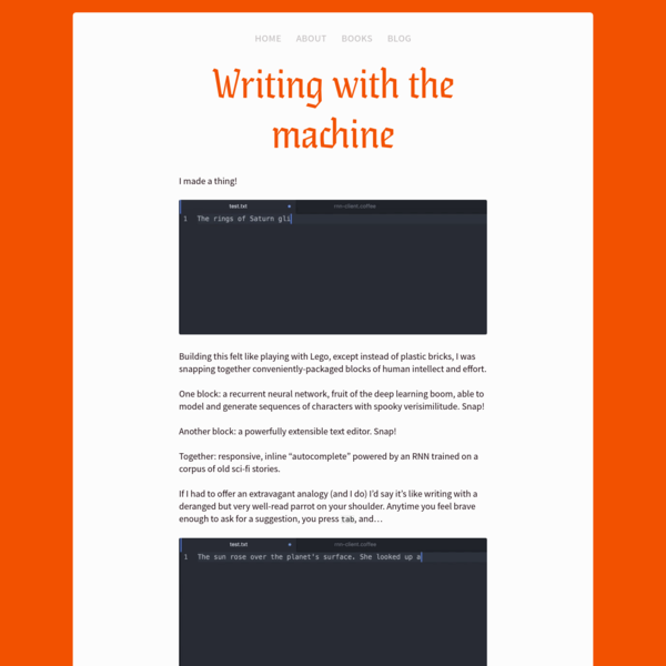 Writing with the machine