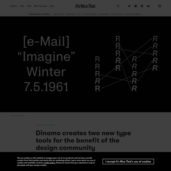 Dinamo creates two new type tools for the benefit of the design community