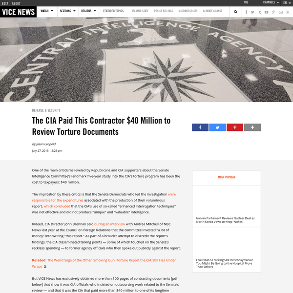 Senate Intelligence Committee Report On Torture Pdf