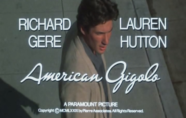 American Gigolo Title Card