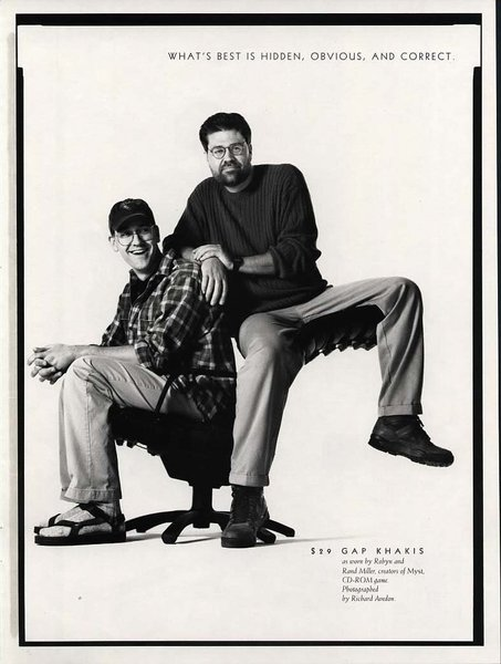 Rand and Robyn Miller in a GAP Ad