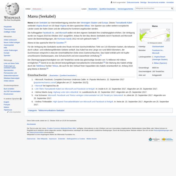 Marea (Seekabel) - Wikipedia