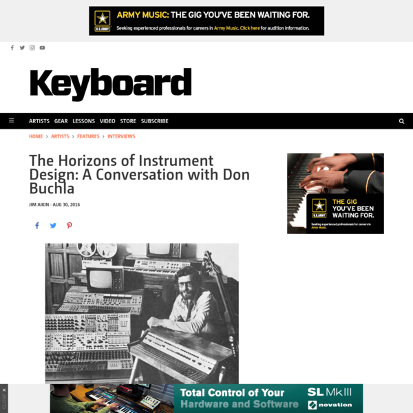 The Horizons of Instrument Design: A Conversation with Don Buchla