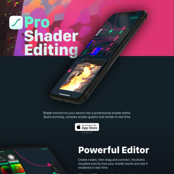 Shade - Pro Shader Editing for iPhone and iPad