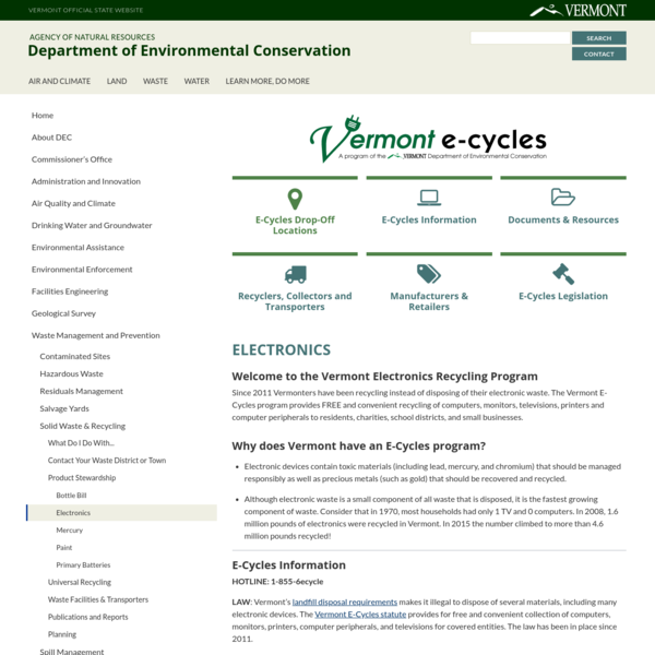 Electronics | Department of Environmental Conservation