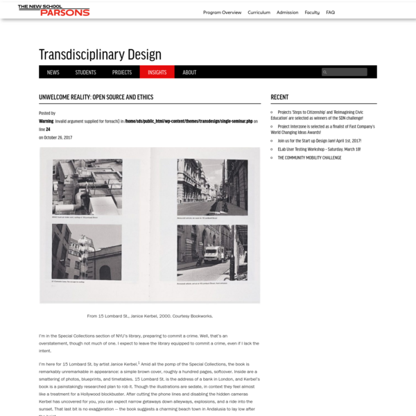 Unwelcome Reality: Open Source and Ethics | Transdisciplinary Design