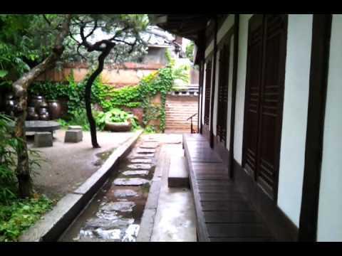 2012.6.30 비오는 최순우 옛집 뒷마당