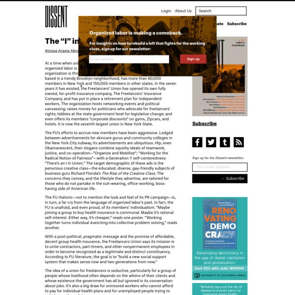 "The ""I"" in Union | Dissent Magazine"