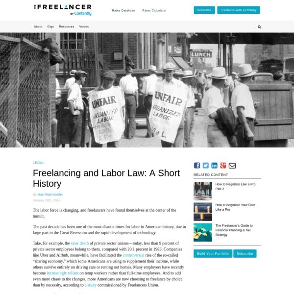 Freelancing and Labor Law: A Short History