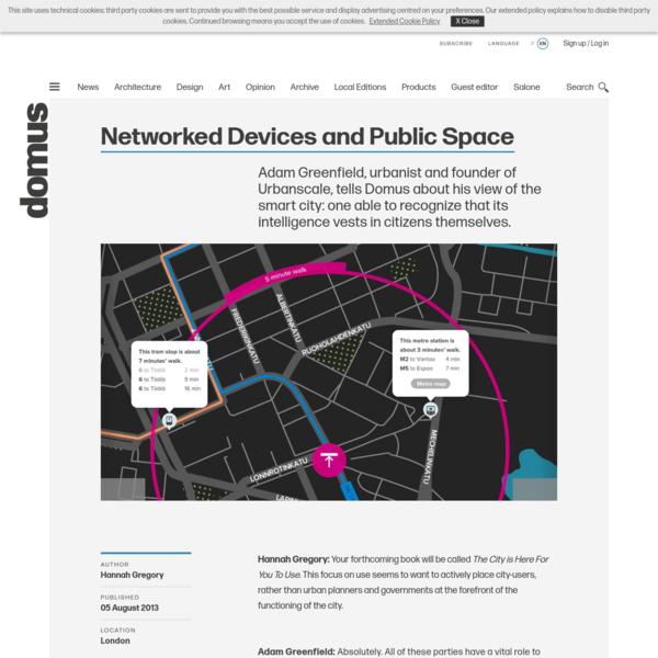 Networked Devices and Public Space