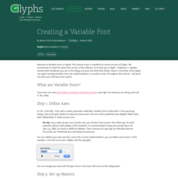 Creating a Variable Font | Glyphs